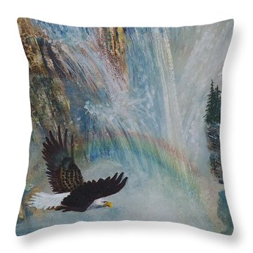 Rising Up With Eagle's Wings 2 Throw Pillow