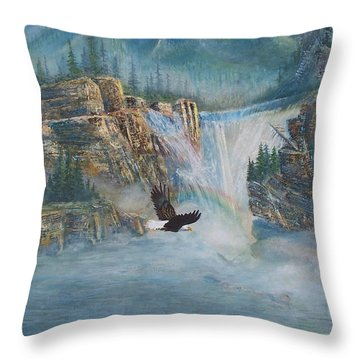 Rising Up With Eagle's Wings Throw Pillow