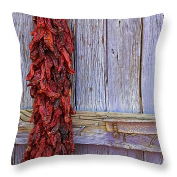 Throw Pillow featuring the photograph Ristra by Lynn Sprowl
