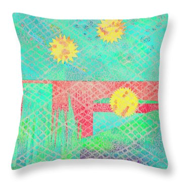 Rita's Meadow Throw Pillow