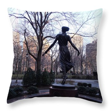 Throw Pillow featuring the photograph Rittenhouse Square At Dusk by Lyric Lucas
