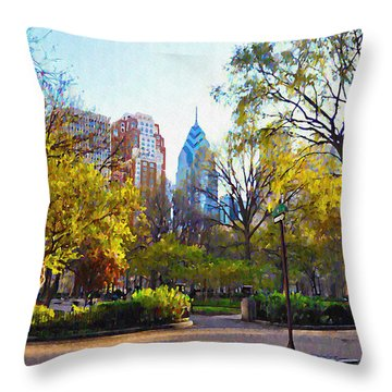 Phila Digital Art Throw Pillows