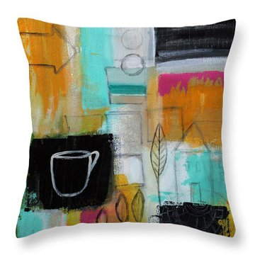 Rituals- Contemporary Abstract Painting Throw Pillow