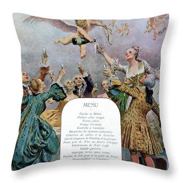 Ritz Restaurant Menu Throw Pillow