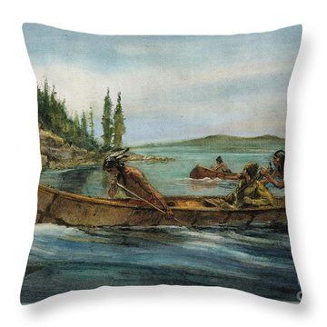 Rival Fur Traders  Throw Pillow by Granger