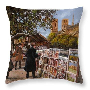 Rive Gouche Throw Pillow by Guido Borelli