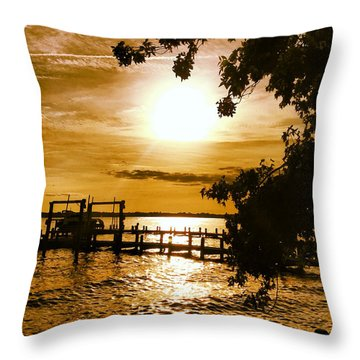 River Acres Jaynes Sunset Throw Pillow