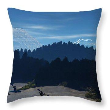 River Adventure Throw Pillow