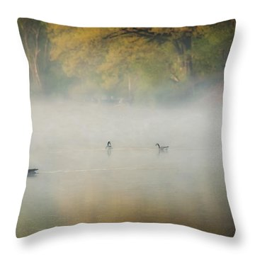 River At Sunrise Throw Pillow by Everet Regal