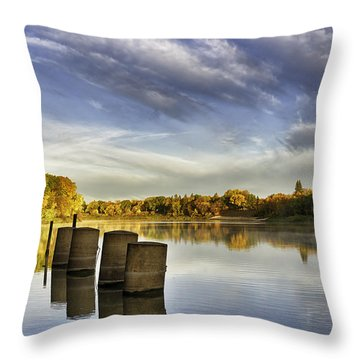 River Autumn Throw Pillow