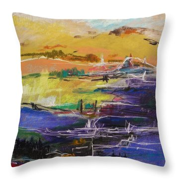 River Bank II Throw Pillow