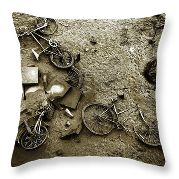 River Bank Throw Pillow by Mark Rogan
