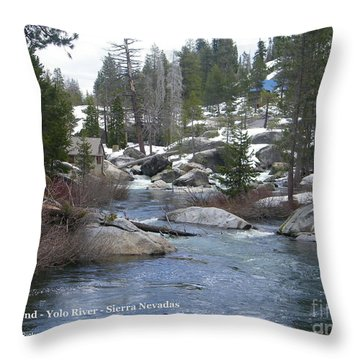 Throw Pillow featuring the photograph River Bend  by Bobbee Rickard