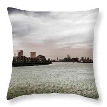 River Bend Throw Pillow by Mark Rogan