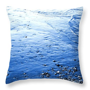 Throw Pillow featuring the photograph River Blue by Robyn King