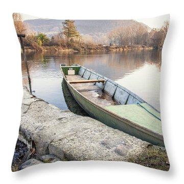 River Boat Throw Pillow