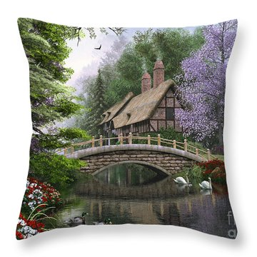 River Cottage Throw Pillow by Dominic Davison