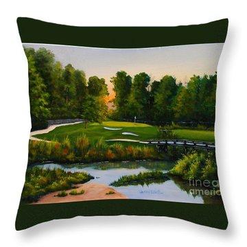 River Course #16 Throw Pillow