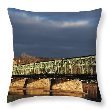 River Crossing Throw Pillow by Elsa Marie Santoro