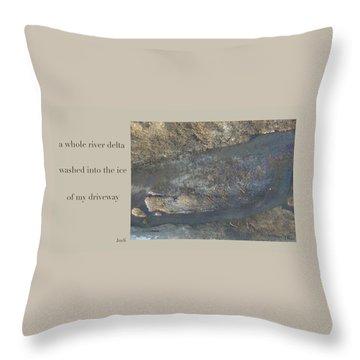 River Delta Haiga Throw Pillow