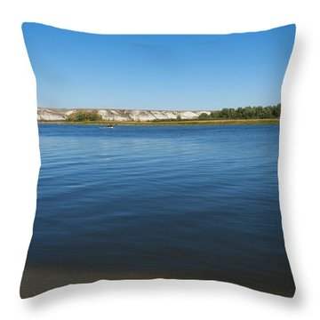 River Don Throw Pillow by Svetlana Sewell