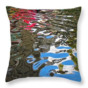 River Ducks Throw Pillow by Pamela Clements
