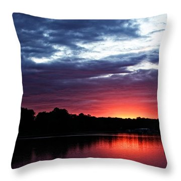 Throw Pillow featuring the photograph River Glow by Dave Files