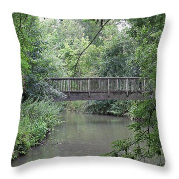 River Great Ouse Throw Pillow