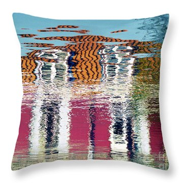 Throw Pillow featuring the photograph River House by Luc Van de Steeg
