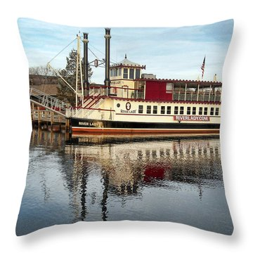River Lady Throw Pillow
