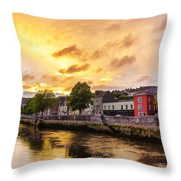 River Lee In Cork Throw Pillow