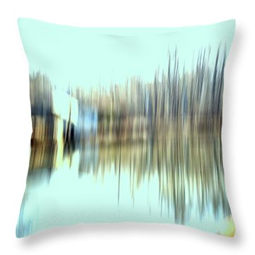 Throw Pillow featuring the mixed media River Mill 2 by Terence Morrissey