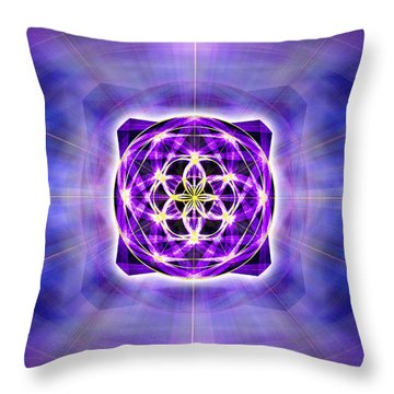 Throw Pillow featuring the drawing River Of Ascended Light by Derek Gedney
