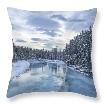 River Of Ice Throw Pillow