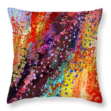 Throw Pillow featuring the painting River Of Joy by Jann Paxton