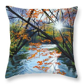 River Of Joy Throw Pillow