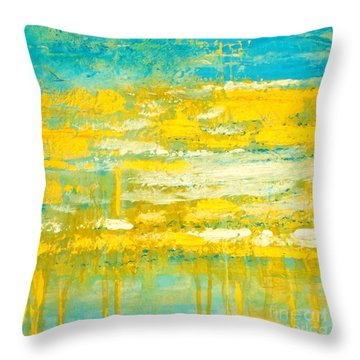 Throw Pillow featuring the painting River Of Praise by Donna Dixon