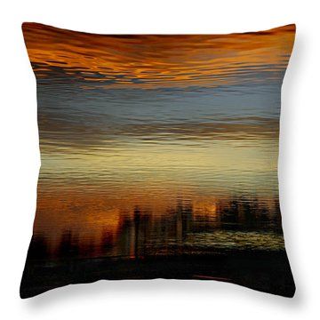 Throw Pillow featuring the photograph River Of Sky by Laura Fasulo