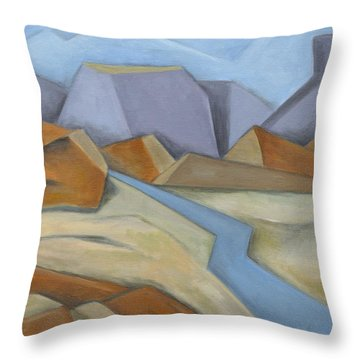 River Road Throw Pillow