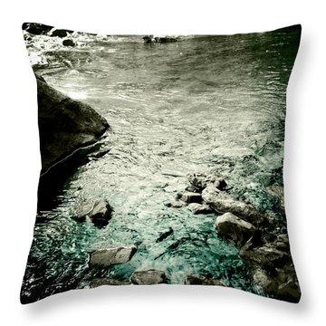 River Rocked Throw Pillow by Susan Maxwell Schmidt