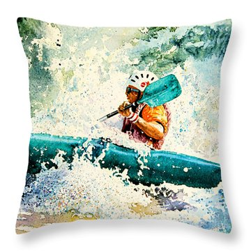 River Rocket Throw Pillow by Hanne Lore Koehler