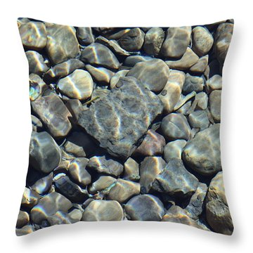River Rocks One Throw Pillow by Chris Thomas