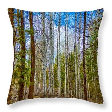 River Run Trail At Arrowleaf Throw Pillow