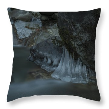 River Stalactites Throw Pillow by Rod Wiens