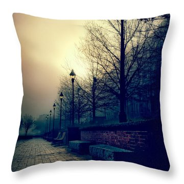 River Street Solitude Throw Pillow by Renee Sullivan
