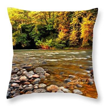 River Sunset Throw Pillow