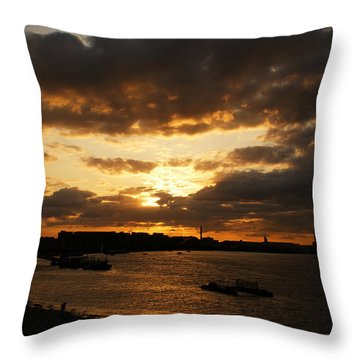 River Thames From Greenwich Throw Pillow