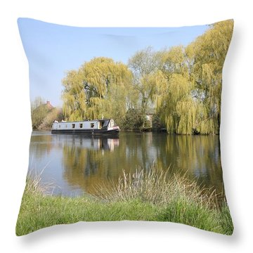 River Transport Throw Pillow by Mark Severn