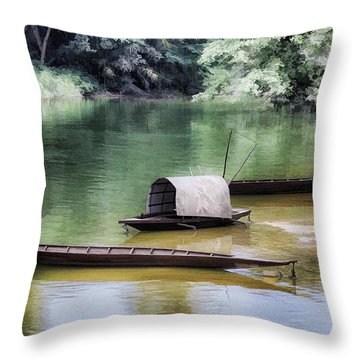 River Tribe Throw Pillow