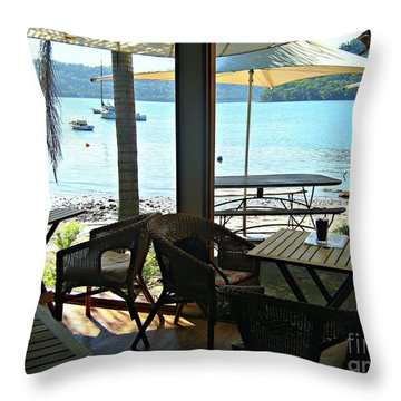 Throw Pillow featuring the photograph River View by Leanne Seymour